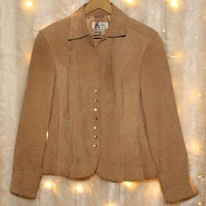 Live a Little - Women's Camel Leather Jacket NEW